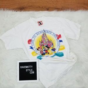 Vintage Disney Parks Mickey Anniversary Tee L